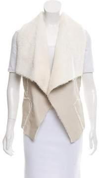 Blank NYC Faux Fur Open Front Vest w/ Tags