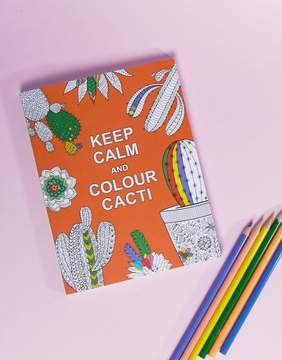 Books Keep Calm and Color Cacti