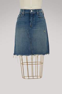 Mother Tomcat denim mini-skirt