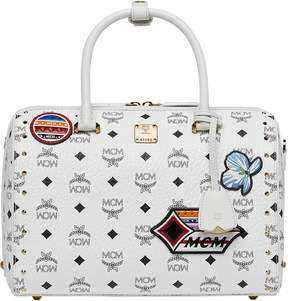 MCM Essential Boston Bag In Victory Patch Visetos
