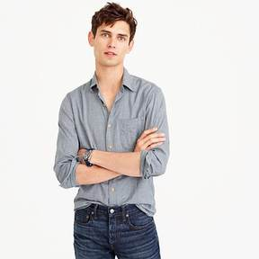 J.Crew Slim brushed flannel shirt in tattersall