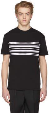 McQ Black Mid Stripe T-Shirt