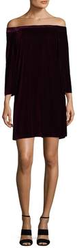 Donna Morgan Women's Off the Shoulder Shift Dress
