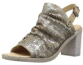 Naughty Monkey Womens Nyxx Leather Open Toe Special Occasion Mule Sandals.
