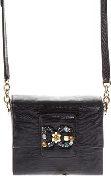 Dolce & Gabbana Millennials Leather Box Bag - BLACK - STYLE