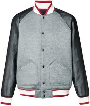 Mostly Heard Rarely Seen varsity bomber jacket