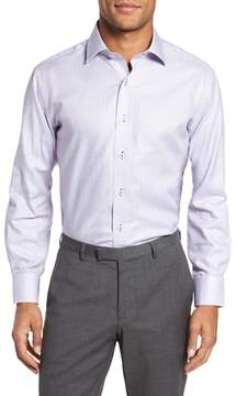 Lorenzo Uomo Trim Fit Textured Check Dress Shirt
