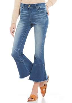 Chelsea & Violet C&V Crop Flared & Fringe Hem Pant Jeans