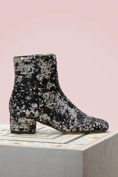 Chiara Ferragni Sequin ankle boots