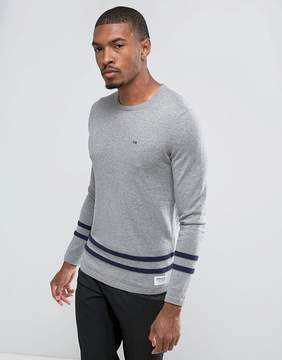 Tom Tailor Knitted Sweater With Hem Stripes