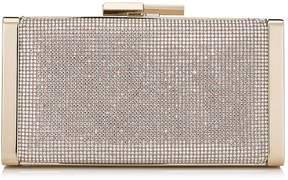 Jimmy Choo J BOX Nude Crystal Hotfix Clutch Bag