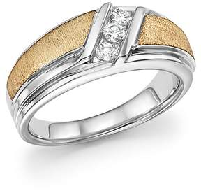 Bloomingdale's Men's Diamond Three-Stone Band in 14K White & Yellow Gold, 0.33 ct. t.w. - 100% Exclusive