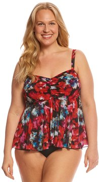 Fit 4 U Fit4U Plus Size Flamenca Mesh Bandeau Tankini Top 8155905