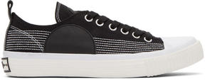 McQ Black Swallow Plimsoll Sneakers