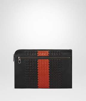 Bottega Veneta Nero Terracotta Intrecciato Nappa Document Case