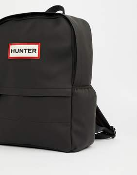 Hunter Rubberised Backpack in Black