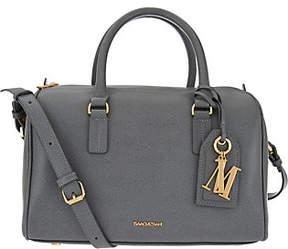 Isaac Mizrahi Live! Signature Saffiano LeatherSatchel Handbag