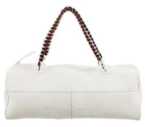 Malo Velvet-Accented Handle Bag