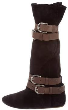 Etoile Isabel Marant Suede Round-Toe Boots