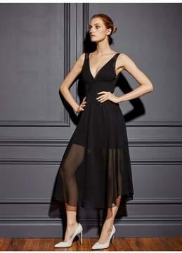 Fleur Du Mal | Georgette Sheer Dress | L | Black
