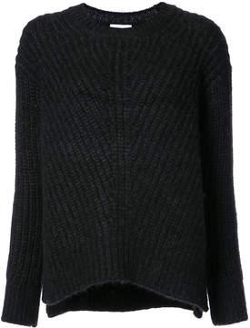 Closed ribbed detail jumper