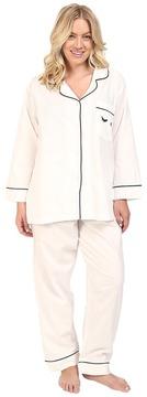 BedHead Plus Size Long Sleeve Classic Bottom Pajama Set Women's Pajama Sets