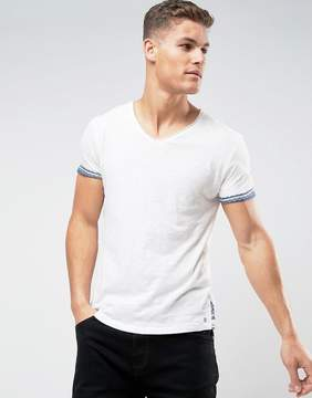 Tom Tailor T-Shirt With Scoop Neck And Print Hem