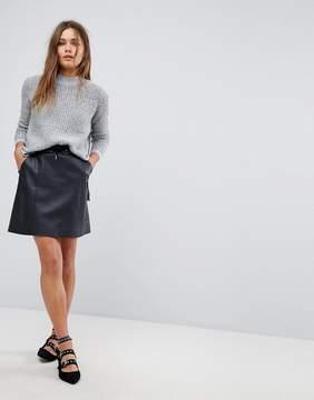 Esprit Faux Leather A Line Skirt