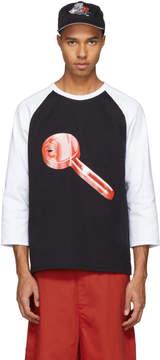 Acne Studios Black and White Heart Key Noise T-Shirt