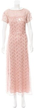 David Meister Sequined Lace Gown