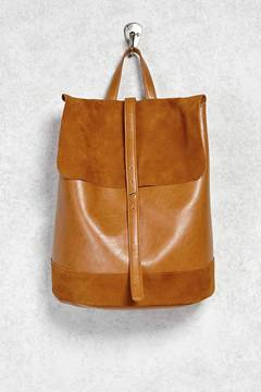 FOREVER 21 Faux Leather Flap-Top Backpack