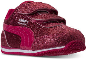 Puma Toddler Girls' Whirlwind Glitz Stay-Put Closure Athletic Casual Sneakers from Finish Line