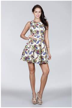 Ark & Co Stylish Stained Glass Floral Print Dress