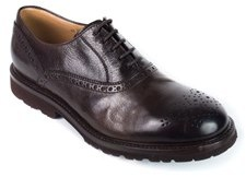 Brunello Cucinelli Mens Dark Brown Leather Lace Up Brogues.