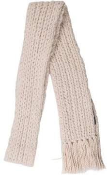 Marc Jacobs Wool Fringe-Trimmed Scarf