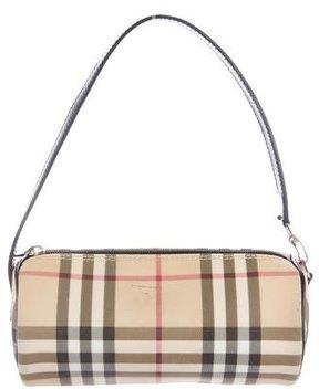 Burberry Nova Check Handle Bag - BROWN - STYLE