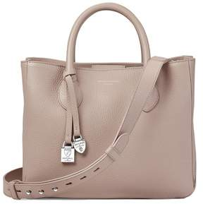 Aspinal of London Midi London Tote In Soft Taupe Pebble