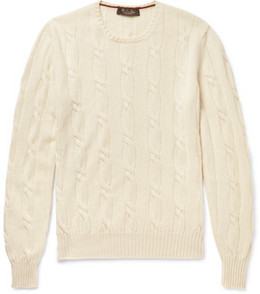 Loro Piana Jubilee Cable-Knit Baby Cashmere Sweater
