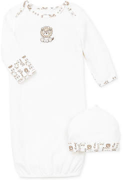 Little Me Baby Boys' 2-Piece Safari Hat & Gown Set