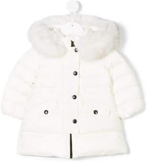 Moncler fur trim padded coat