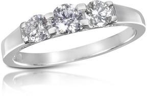 Forzieri 0.64 ctw Diamond Three-Stone 18K Gold Ring