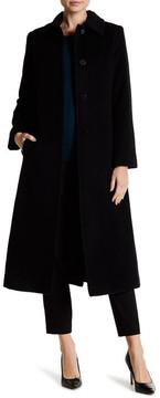 Fleurette Spread Collar Wool Blend Coat