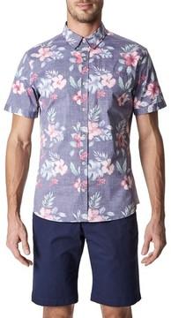 7 Diamonds Men's More Colors Floral Woven Sport Shirt
