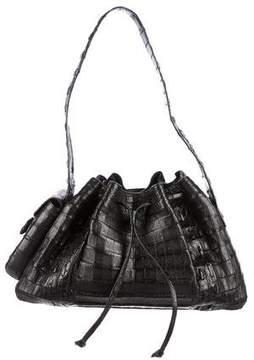 Nancy Gonzalez Crocodile Drawstring Shoulder Bag