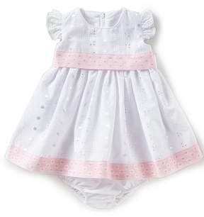 Bonnie Jean Bonnie Baby Baby Girls Newborn-24 Months Flutter-Sleeve Eyelet Dress