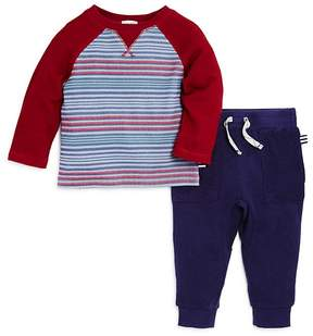 Splendid Boys' Striped Thermal & French Terry Joggers Set - Baby
