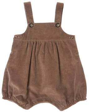 Marie Chantal Baby Boy Cord Romper - Chocolate