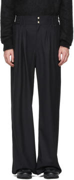 Balmain Black Wool Trousers