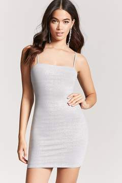 Forever 21 Metallic Knit Cami Dress