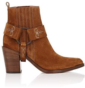 Sartore Women's Stitched Harness-Strap Ankle Boots